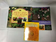 3x Container Gardening Books Patio / Pot / Container Gardening Green-Fingered