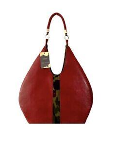 Red Vegan Leather Hobo handbag