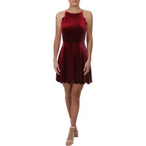 Necessary Objects Womens Velvet Scalloped Night Out Party Dress BHFO 9995