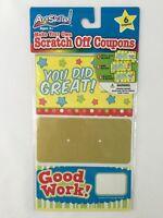 Reward Sticker School Teacher Merit Praise Kids Students Scratch Off 6 Cards