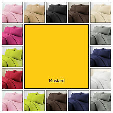Plain Dyed Polycotton Duvet Quilt Cover Bedding Set Pillowcases Bright Colours