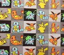 Pokemon Cotton cavan Fabric for tablecloth DIY Pillow Bag Apron Curtain 45x145cm