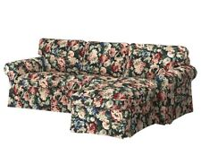 IKEA EKTORP Sofa w/ Chaise Slipcover Floral Lingbo 104.033.41 COVER ONLY