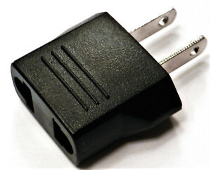 European EU Round to Flat Plug POWER PLUG ADAPTER End Charger Travel Converter