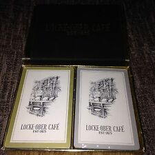 Collectable Sealed LOCKE-OBER Boston Cafe Playing Cards Vintage Double Deck Rare