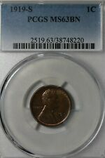 1919 S   1C   PCGS     MS 63 BN          Lincoln Head Cent, Lincoln One Cent