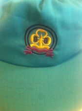 Vintage Official Uniform Girl Guides Association Snapback Adjustable Hat Aqua