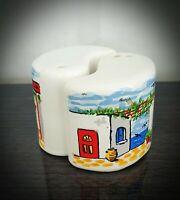 Vintage Ceramic Handpainted Salt and Pepper Pots Shakers Set Made in Greece