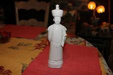 Interesting Asian Chinese Ceramic Porcelain Statue Emperor Religious Man-White