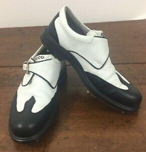 ECCO  Womens Golf Shoes 1763 White Black Size 39 Saddle Point