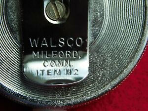 VINTAGE 1969 GOVT ISSUE POLICE CORRECTIONS JAIL PRISON WALSCO KEY CHAIN & REEL