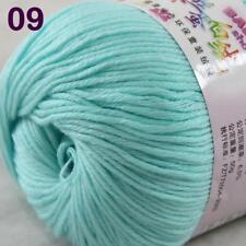 Sale New 1Ball x 50g Cashmere Silk Wool Hand Knit Wrap Shawls Crochet Yarn 09
