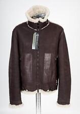 Emporio Armani Shearling Sheepskin Brown Leather Jacket EU56 XL XXL RRP £1490