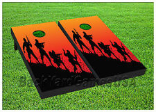 VINYL WRAPS Cornhole Boards DECAL Solider Troops Bag Toss Game Stickers 433