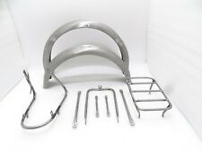 NEW NORTON 16H FRONT AND REAR MUDGUARD SET WITH COMPLETE STAY KIT (CODE675)