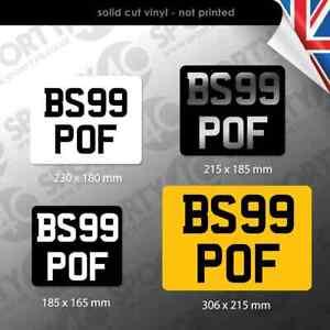 1 x Show / Number / Fun Plate Sticker Square 4x4 Caravan Trailer Moto 2129-1220