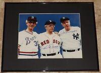 Joe DiMaggio & Dom Signed Autographed Framed 11x14  Baseball Photo JSA LOA!