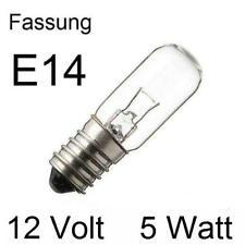 3x Glühlampe Glühbirne Lampe Röhre Spezial Ersatz Fassung E14 12V 5W 275411