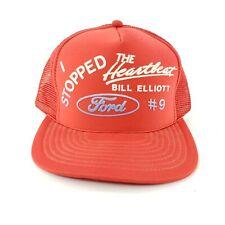 Vintage Nascar Bill Elliot Ford #9 Trucker Hat Cap Snapback Racing Heartbeat