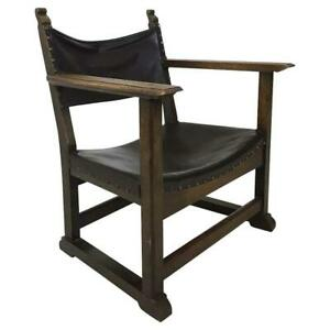 Antique Fireside Chair a Model Used by Adolf Loos, Vienna, 1930s