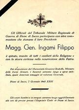 1945 REPUBBLICA SOCIALE RSI  VOLANTINO MORTE GENERALE INGAMI PIOVE DI SACCO doc3