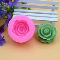 3D Rose Flower Fondant Cake Chocolate Sugarcraft DIY Silicone Baking Mold QK