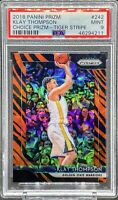 KLAY THOMPSON 2018-19 PRIZM CHOICE TIGER STRIPE PRIZM SP PSA 9 MINT POP 4 📈🔥