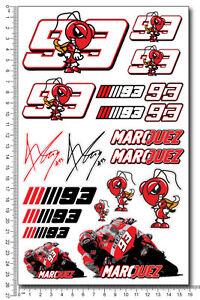Marquez 93 aufkleber set decal moto gp 16x26 cm. 20 stickers Repsol Honda