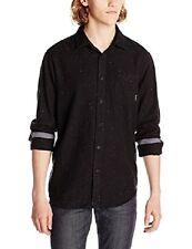 Billabong Men Galactic Black Flannel Shirt Sz Large Long Sleeve M508DGAL