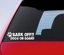 Bark Off Dogs On Board Paw Funny Car Window Bumper Pet Dog Sticker Vinyl Decal