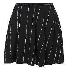 Firetrap Blackseal Stripe Skirt Black Womens Size 10