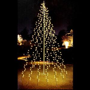 LED Fahnenstangen Fahnenmast Lichterkette Außenbeleuchtung Tannenbaumbeleuchtung