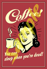 Coffee #3 Sticker of Antique Tin Sign Artwork Old Time Retro Self Adhesive