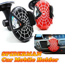 Spiderman Mobile Cell Phone GPS Navi Car Mount Stand Hanger Holder iphone Galaxy