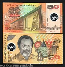 Papua New Guinea 50 Kina P18 2002 Polymer Unc World Currency Money Bill Banknote