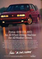 1985 Pontiac 6000 STE Classic Vintage Advertisement Ad A75-B sedan