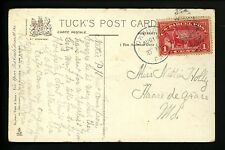 US Postal History Scott #Q1 Post Card 8/14/1913 Oxford PA to Harve de Grace MD