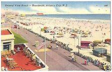 Postcard General View Beach  Atlantic City NJ 1961