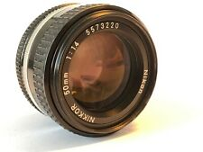 Nikon Nikkor 50mm 1.4 AIS MF - Top
