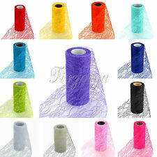 "1/2/5/10 Rolls  Vintage Style Lace Roll Wedding Party Chair Sash Venue 6""x 10Y"