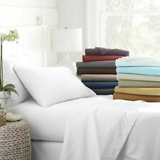 """Olympic Queen Size 8"""" to 15"""" Extra Deep Pocket 1000 Count Solid Color Sheet Set"""