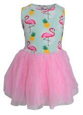 Girls Summer Flamingo Pineapple Tutu Dress Infant Toddler Kids Clothes