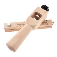 Utensile da taglio manuale a mano in cuoio regolabile per tagli a strisce