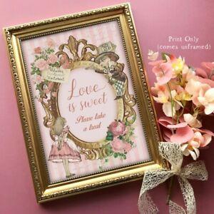 Alice in Wonderland Love is Sweet Sign, Wedding Sign, Dessert, Candy Bar Sweets