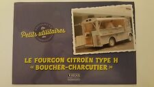 Atlas - Specification ONLY of Van / wagon Citroën Type H Butcher