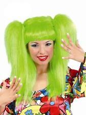 Peluca verde coletas disfraz