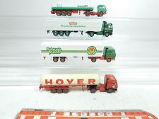 BB304-0,5# 4x Wiking H0/1:87 LKW MB: Hoyer+Hoechst+Schwab+Hengstenberg, NEUW