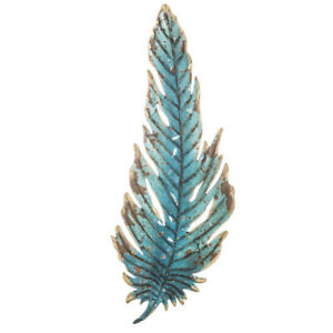 Turquoise Feather Metal Wall Decor. Add it to a living wall for a pop of color!