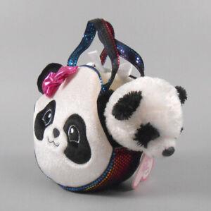 Aurora Fancy Pals Pet Carrier Pretty Panda Plush Animal Toy #32605 NWT
