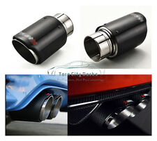 Inlet 76mm /Outlet 114mm Carbon Fiber Car Exhaust Muffler Pipe Tip For Akrapovic